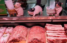 Pork meat imports reached 380,000 tons, with an increase of 121.6% in the annual comparison because of the problems caused by the African swine fever