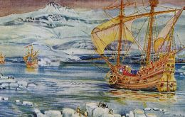 Ferdinand Magellan and Sebastian Elcano the first to circumnavigate the world. It took three years and they discovered the link between of the oceans