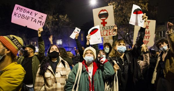 Polish women protest against abortion restrictions becomes global across EU and US cities; huge march expected in Warsaw