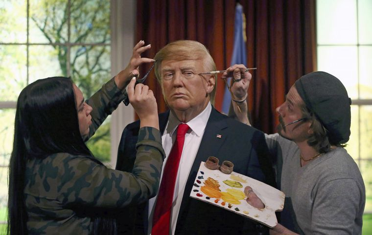 """We here at Madame Tussauds Berlin removed Donald Trump's waxwork as a preparatory measure."""