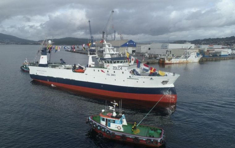 Montelourido was delivered on Monday by the Nodosa shipyar in Marín