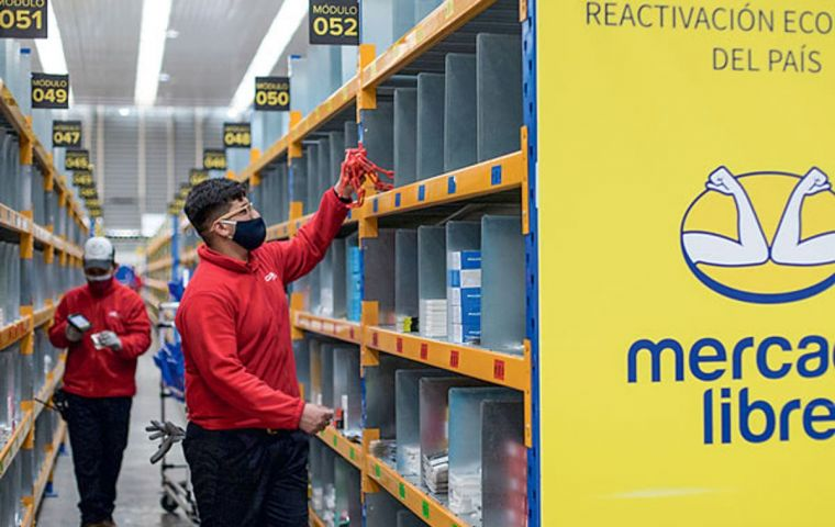 Mercado Libre has pinned its hopes on the coronavirus-fueled shift to online retail and user growth for its digital financial services in Latin America