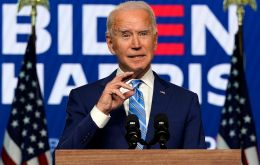 """The numbers tell us… it's a clear and convincing story: We're going to win this race,"" Biden said"