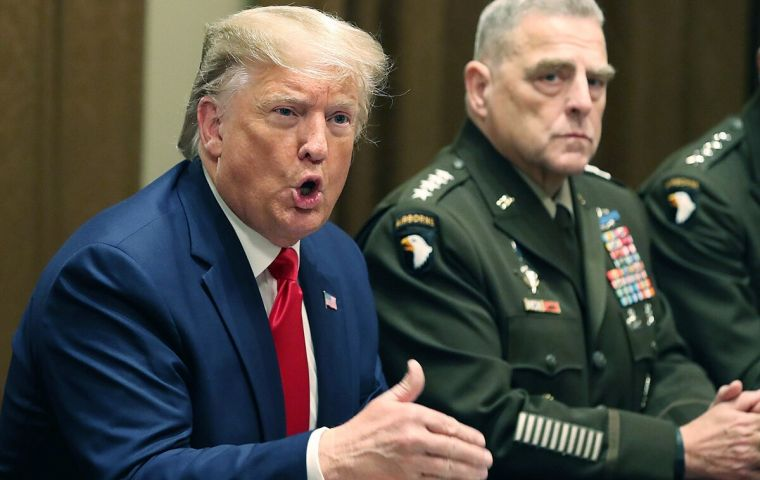 The advisers warned president Trump that military action could spark a broader conflict, officials were cited as saying.