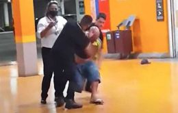 A video showed 40-year-old welder Joao Alberto Silveira Freitas repeatedly being punched in the head by a security guard while he is being restrained by another at a Carrefour supermarket