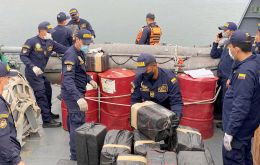 Some 18 tons of marijuana were also confiscated and 413 people arrested. Seven airplanes, 76 boats and five semi-submersible watercraft were impounded