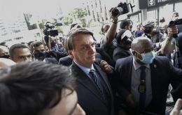 """I'm telling you, I'm not going to take it. It's my right,"" Bolsonaro said in remarks aired over several social media platforms."