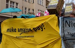 "The ""Make Amazon Pay"" campaign addressed to Jeff Bezos, was launched on Nov. 27, annual Black Friday shopping bonanza, by a coalition of over 50 organizations"