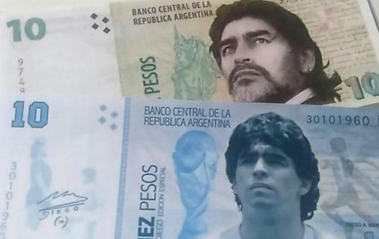 The note, would feature Maradona's face on one side and a picture of one of his most famous goals on the other, said the bill's sponsor Senator Norma Durango.