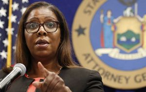 Letitia James said the company acquired rivals before they could threaten the company's dominance