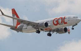 Low-cost airline Gol's Flight 4104 from Sao Paulo arrived safely in the southern city of Porto Alegre about 70 minutes after take-off using the revamped jet
