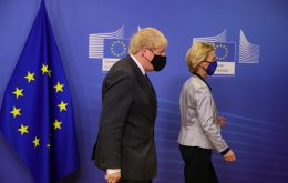 A Brussels diplomat said the main course served to Boris Johnson and Ursula von der Leyen at EC's headquarters was steamed turbot, mashed potatoes with wasabi