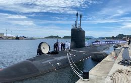 USS Vermont is the newest submarine in the US Fleet and is visiting Brazil's newest submarine base the Itaguaí naval base in the state of Rio de Janeiro
