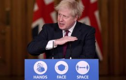 """As I speak to you tonight, our hospitals are under more pressure from COVID than any time since the start of the pandemic,"" Johnson said in a televised address"