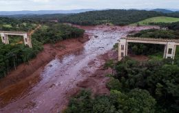 The rupture of the Vale dam in Brumadinho on Jan. 25, 2019 left about 270 dead