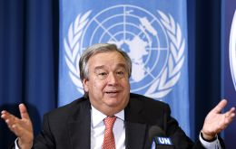 Portugal born Guterres, 71, took office as the ninth secretary-general in January, 2017 for a five year term that finishes at the end of the year.