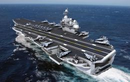 Type 003 aircraft carrier is being assembled in Shanghai and the general outline of the warship is already identifiable, published in its WeChat account