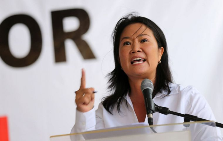 """After what we've been through I'm in favor of pardoning my father (Alberto Fujimori) and I prefer to say so openly"", Keiko Fujimori said in an interview"