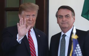Bolsonaro, a declared admirer of former president Donald Trump, was one of last world leaders to recognize Biden's victory