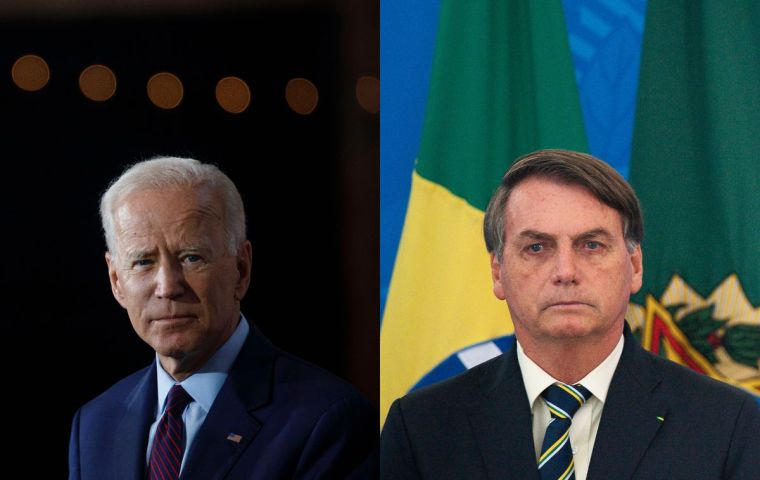 """I've long been a huge admirer of the US,"" Bolsonaro wrote and added that it was his administration that ""corrected"" public sentiment in Brazil toward  US."