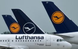 Lufthansa is planning two charter flights directly from Hamburg to the Falkland Islands with scientists and a fresh crew