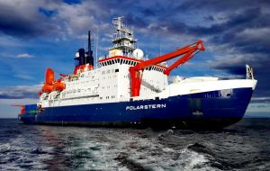 "Germany requested Argentine authorities to overfly Argentine space and to have access with its polar research vessel ""Polarstern"" to Stanley/Puerto Argentino"