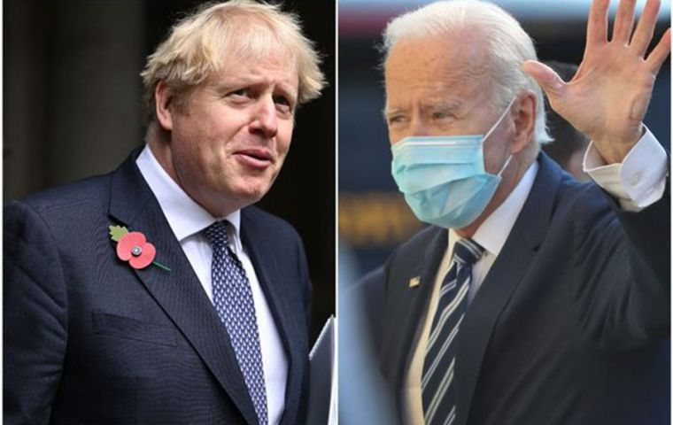 PM Johnson warmly welcomed President Biden's decision to re-join the Paris Agreement on climate change, as well as the World Health Organization