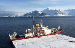 Rothera with the RRS James Clark Ross