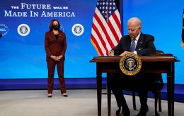 Some US$ 600 billion is spent for government procurement every year, with a law requiring agencies to give preferences to American firms, according to Biden.