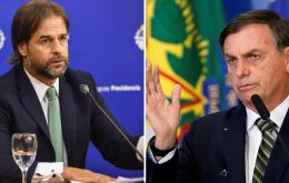 Lacalle Pou and foreign minister Francisco Bustillo will be meeting Jair Bolsonaro and Eduardo Araújo in the Brazilian capital