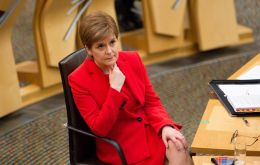Sturgeon's pro-independence Scottish National Party, which heads the Scottish government, wants to hold a second referendum on breaking away from UK