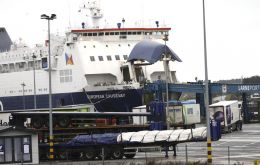 "Officials pulled a dozen staff members from duty at Larne Port after an ""upsurge in sinister and menacing behavior,"" Mid and East Antrim Borough Council said."