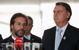 """I am leaving for Uruguay very satisfied, very happy"", said Lacalle Pou, in a press conference, after a meeting with Bolsonaro in Brasilia."