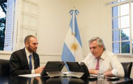 Fernández said in the interview that Economy Minister Martín Guzmán would travel to Washington at month's end with an eye towards postponing maturities