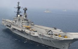 HMS Hermes was sold to India and for years was the Indian Navy's flagship