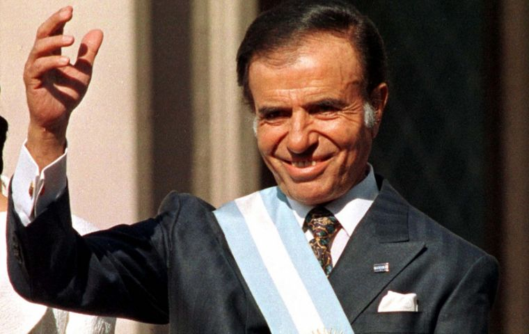 Menem was president of Argentina from 1989 to 1999; in 2003, despite winning the first round, he declined to continue  in view of a looming defeat in the runoff.