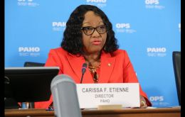 "Pan American Health Organization (PAHO) Director Carissa F. Etienne called for overcoming barriers to ensure ""fair and equitable access."""