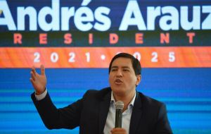 Arauz, an ally of former President Rafael Correa, won the most votes in the first round with 32.72%, far from the margin required to win outright.