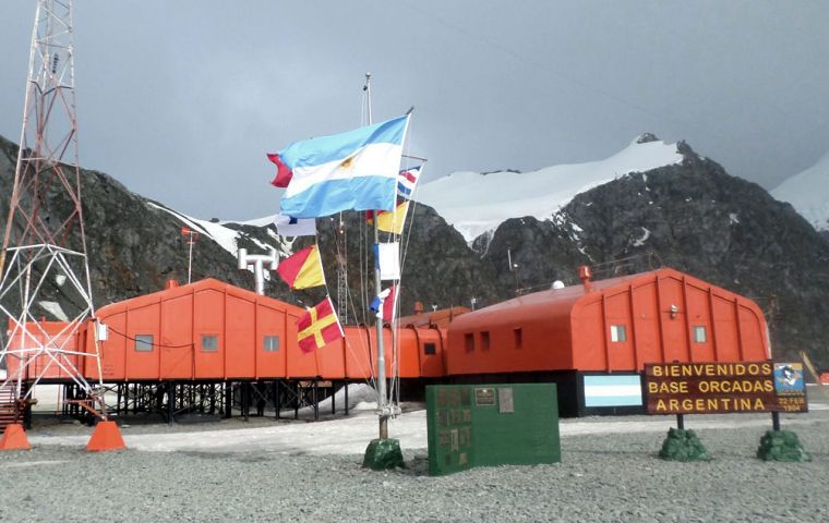 The Orcadas Station on Laurie Island, South Orkney Islands, came under Argentine control on 22 February 1904