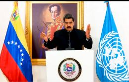 In his speech at a virtual session of UN Human Rights Council Maduro repudiated the more than 450 unilateral sanctions imposed by the US and European Union