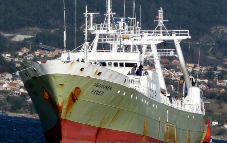 The trawler with its 63 crew had left Vigo on January 14, but had to call in Bahía following an outbreak of Covid 19 on board