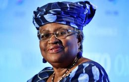 "The Trump administration made ""some valid criticisms with the way that it functions,"" Okonjo-Iweala said."