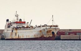 The Lebanon-registered ship had left the Spanish port of Cartagena in December and was headed to Turkey to sell the young bulls, according to the daily El Diario.