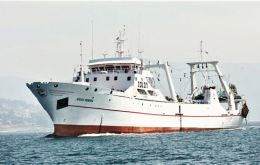 Argos Pereira left Vigo on 24 January following Covid 19 negative tests from the 54 members of the crew
