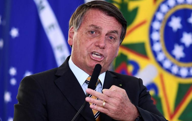 """If closing everything continues, we do not know where our Brazil will end up,"" Bolsonaro said."