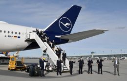 The flight's crew duty period lasted a mammoth 20 days. Photo: Lufthansa