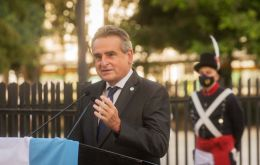 """The vigil for the 40th anniversary of the Malvinas War begins today,"" said Minister Rossi."