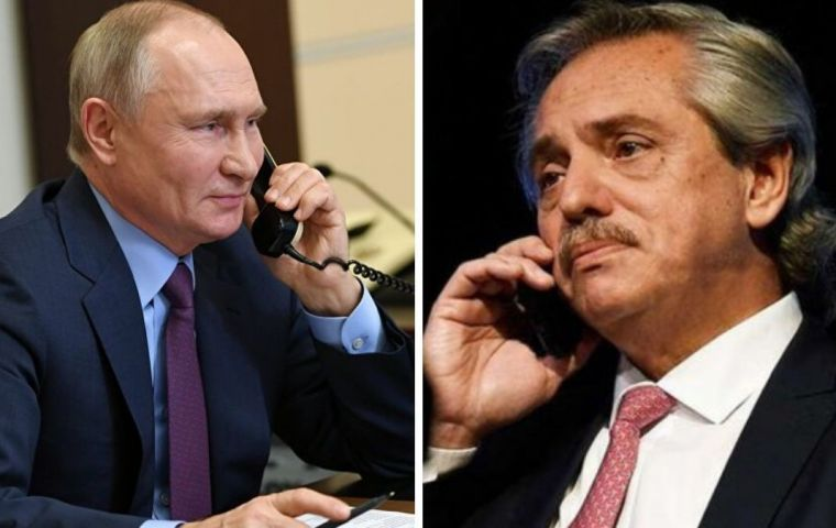 Putin wants to discuss other issues with Fernández, besides the vaccine