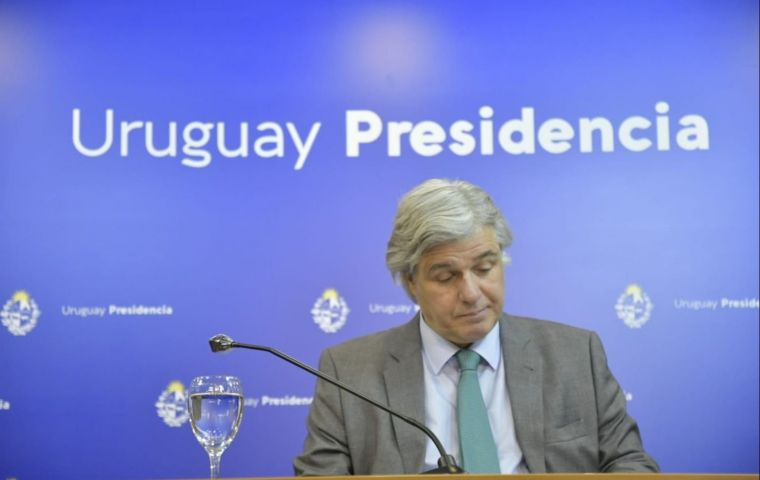 Uruguay's Foreign Minister Bustillo sent a formal note to his Argentine colleague Felipe Solá