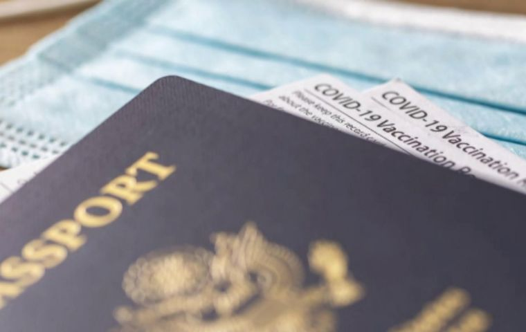 The US government does not see its role as the place to create a passport, said Fauci